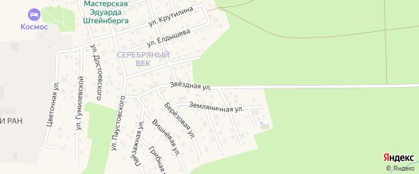 Звездная улица на карте Тарусы с номерами домов