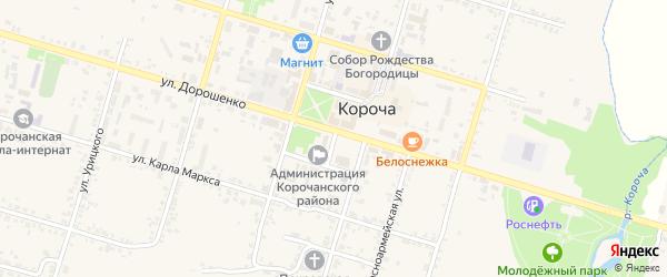 Площадь Васильева на карте Корочи с номерами домов
