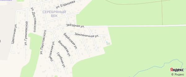 Тихая улица на карте Тарусы с номерами домов