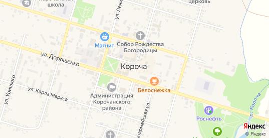 Площадь Васильева в Короче с номерами домов на карте. Спутник и схема онлайн