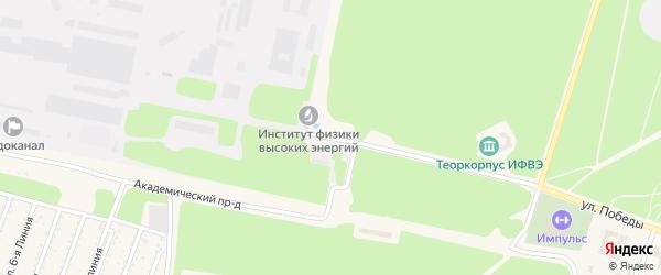 Площадь Науки на карте Протвино с номерами домов