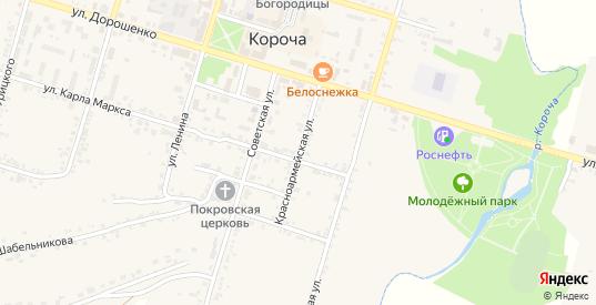 Красноармейская улица в Короче с номерами домов на карте. Спутник и схема онлайн
