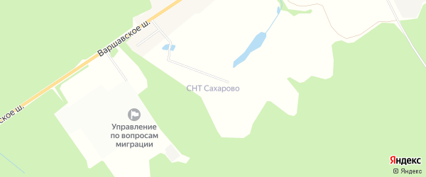 Территория СНТ Сахарово на карте Вороновского поселения с номерами домов