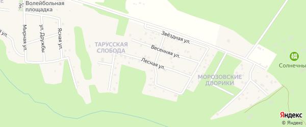 Лесная улица на карте деревни Паршино Калужской области с номерами домов