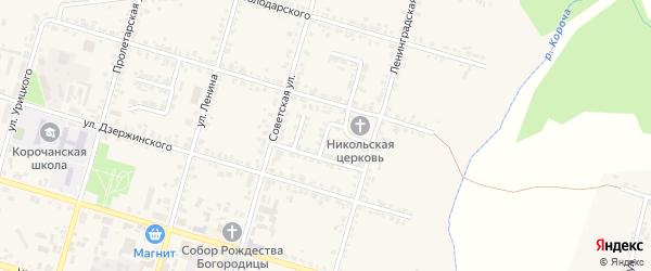 Переулок Мира на карте Корочи с номерами домов