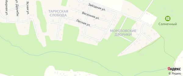 Лесной переулок на карте деревни Паршино Калужской области с номерами домов