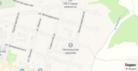 Переулок Карла Либкнехта в Короче с номерами домов на карте. Спутник и схема онлайн