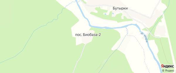 Карта поселка Биобазы-2 в Московской области с улицами и номерами домов