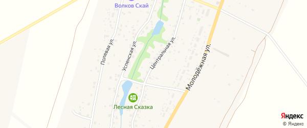 Дивная улица на карте Волковского села Калужской области с номерами домов