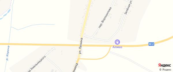 Верхний переулок на карте села Бехтеевки с номерами домов