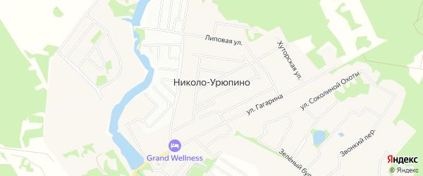 Карта села Николо-Урюпино города Красногорска в Московской области с улицами и номерами домов
