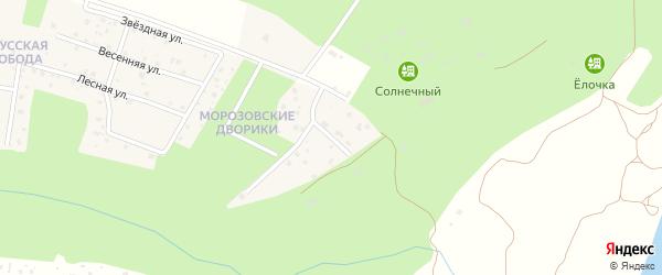 Солнечный переулок на карте территории Сдт Льгово Калужской области с номерами домов