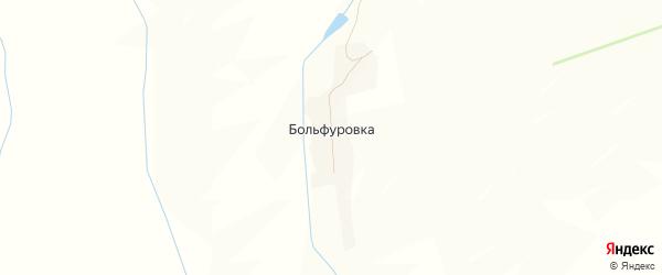 Карта деревни Больфуровки в Орловской области с улицами и номерами домов