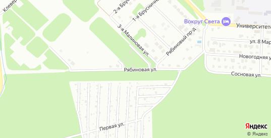 Рябиновая улица в Дубне с номерами домов на карте. Спутник и схема онлайн