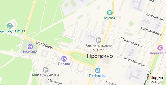 Весенний проезд в Протвино с номерами домов на карте. Спутник и схема онлайн