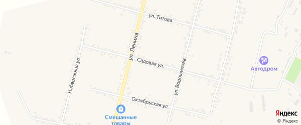 Садовая улица на карте села Бехтеевки с номерами домов