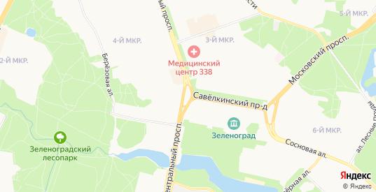 Карта поселка Крюково в Зеленограде с улицами, домами и почтовыми отделениями со спутника онлайн