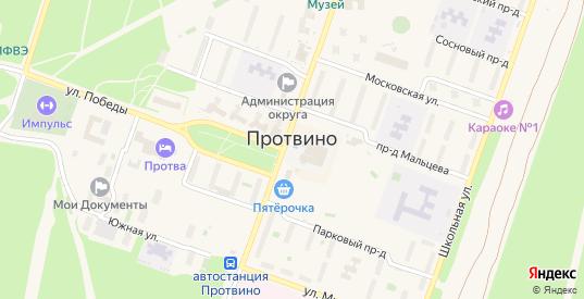 Площадь Алеева в Протвино с номерами домов на карте. Спутник и схема онлайн