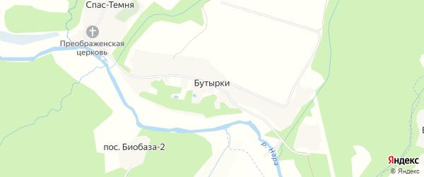 Карта деревни Бутырки города Чехов в Московской области с улицами и номерами домов