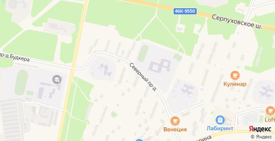 Северный проезд в Протвино с номерами домов на карте. Спутник и схема онлайн