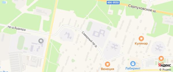 Северный проезд на карте Протвино с номерами домов