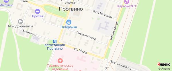 Парковый проезд на карте Протвино с номерами домов