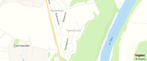 Карта Приокского поселка в Калужской области с улицами и номерами домов