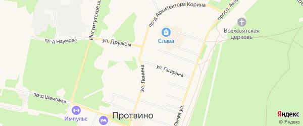 ГСК 5б на карте Протвино с номерами домов