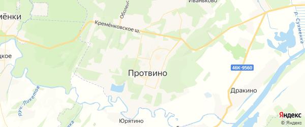 Карта Протвино с районами, улицами и номерами домов