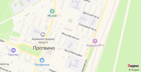 Московская улица в Протвино с номерами домов на карте. Спутник и схема онлайн