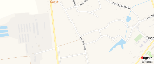 Улица Чкалова на карте Скородного села с номерами домов