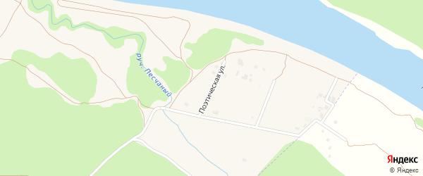 Поэтическая улица на карте Тарусы с номерами домов