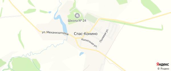 Карта села Спас-Конино в Тульской области с улицами и номерами домов