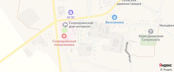 Улица Гагарина на карте Скородного села с номерами домов