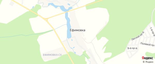 Карта деревни Ефимовка города Чехов в Московской области с улицами и номерами домов