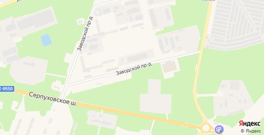Заводской проезд в Протвино с номерами домов на карте. Спутник и схема онлайн