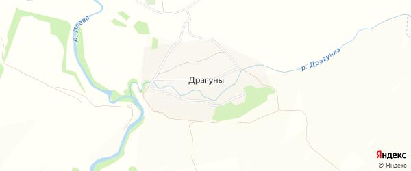 Карта села Драгуны в Тульской области с улицами и номерами домов