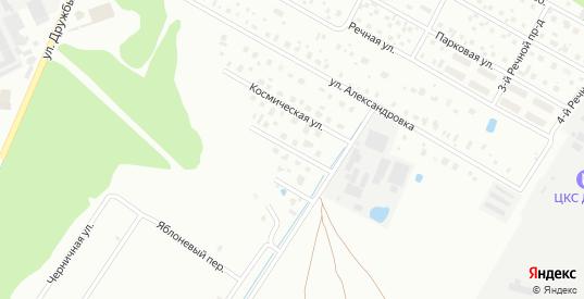 1-я Космическая улица в Дубне с номерами домов на карте. Спутник и схема онлайн