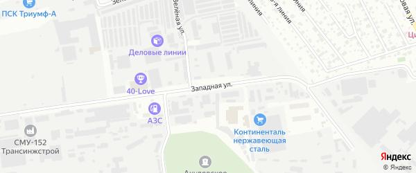 Западная улица на карте Одинцово с номерами домов