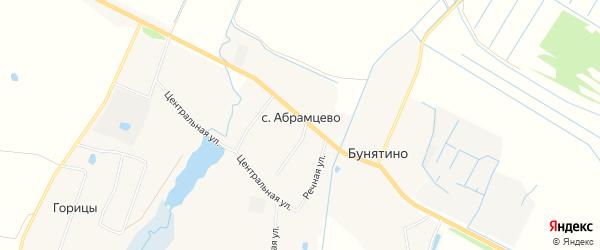 Карта села Абрамцево в Московской области с улицами и номерами домов