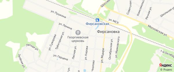 Карта микрорайона Фирсановки города Химок в Московской области с улицами и номерами домов
