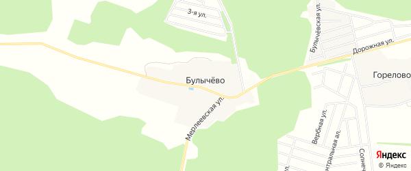 Карта деревни Булычево города Чехов в Московской области с улицами и номерами домов
