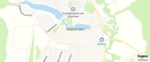 Карта села Шарапово города Чехов в Московской области с улицами и номерами домов