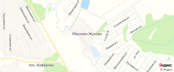 Карта деревни Масново-Жуково города Чехов в Московской области с улицами и номерами домов