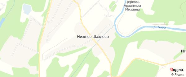 Карта деревни Нижнее Шахлово в Московской области с улицами и номерами домов