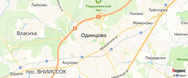 Карта Одинцово Московской области с городами и населенными пунктами