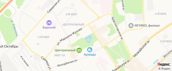 Карта ДНТ Баковка-Набережная территории города Одинцово в Московской области с улицами и номерами домов