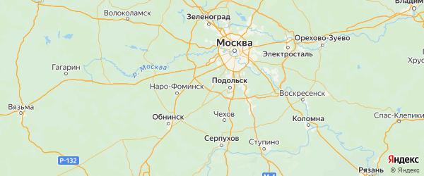 Карта Краснопахорского поселения города Москвы с городами и населенными пунктами