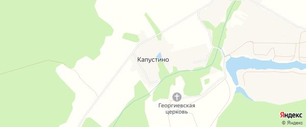 Карта деревни Капустино города Чехов в Московской области с улицами и номерами домов