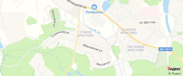 Карта деревни Аристово города Красногорска в Московской области с улицами и номерами домов